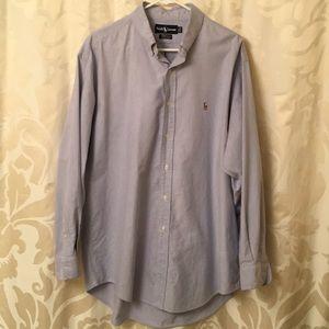 Polo by Ralph Lauren long sleeve shirt. Lt Blue